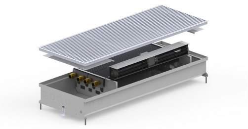 Внутрипольный конвектор Carrera SV2 Inox 120