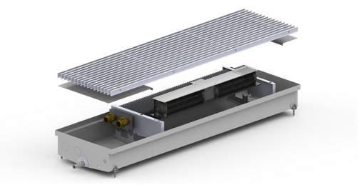 Внутрипольный конвектор Carrera CV Hydro 90