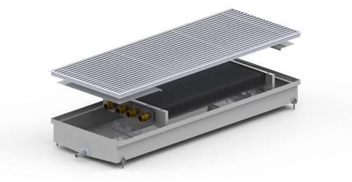 Внутрипольный конвектор Carrera S2 Hydro 90