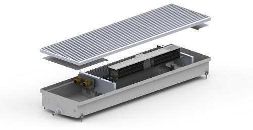 Внутрипольный конвектор Carrera SV Hydro 90