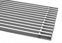 Металлическая решетка Carrera металл продольная для внутрипольных конвекторов