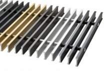 Решетка Carrera металл для внутрипольных конвекторов цвета
