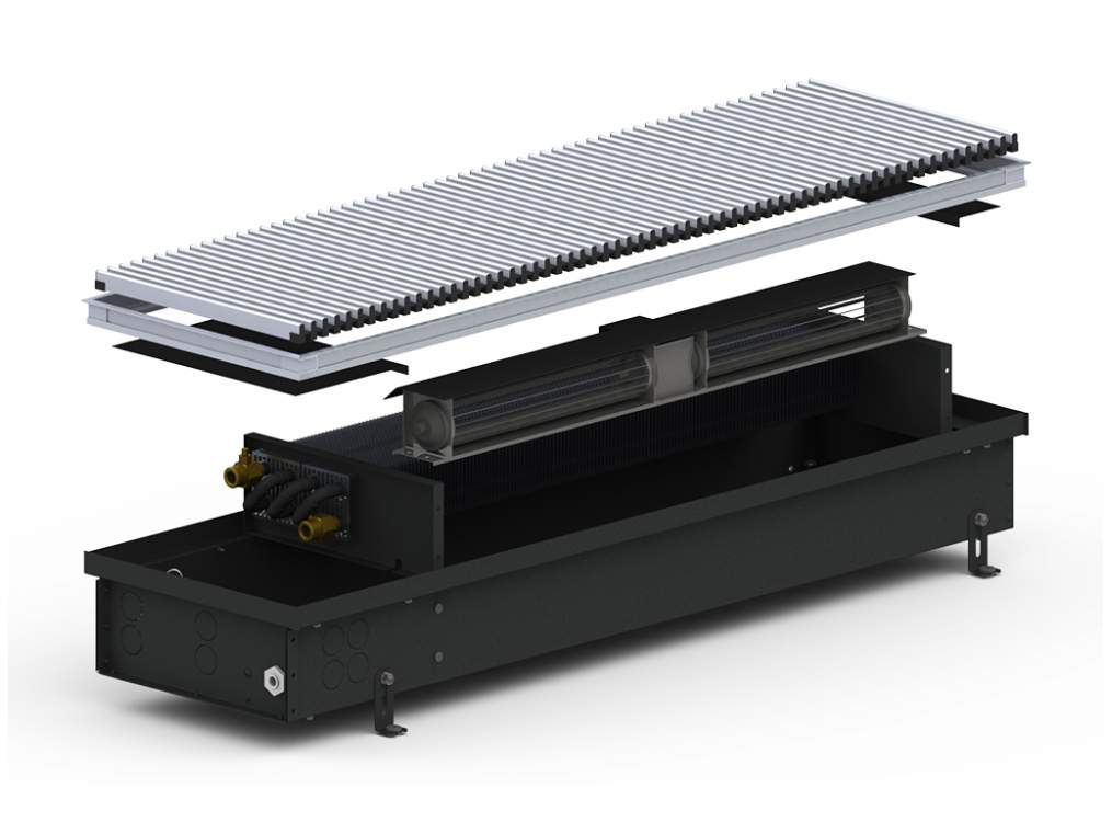 Внутрипольный конвектор Carrera 4SV2 Black 120