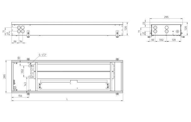 Внутрипольный конвектор Carrera 4SV2 Black 110